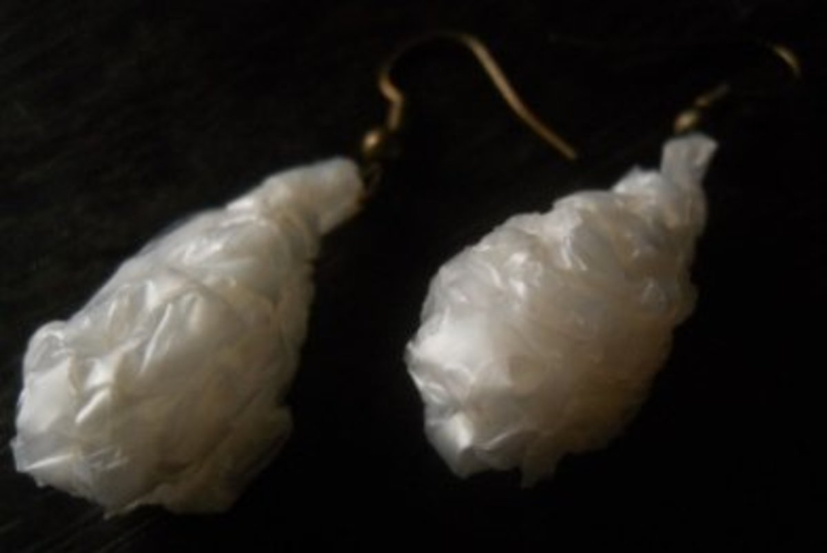3D Ice Tear Drop Earrings