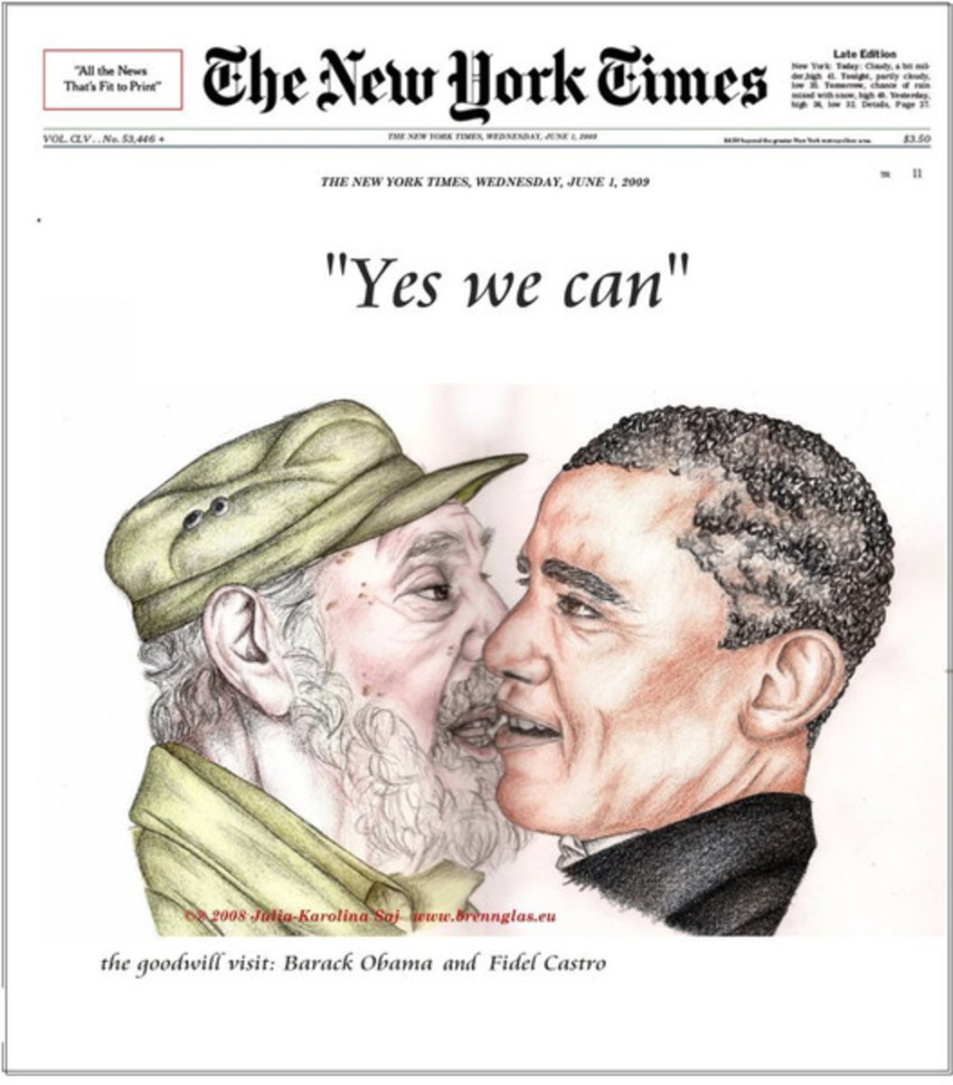 PRESIDENT OBAMA EMBRACES CASTRO'S VISION FOR AMERIKA
