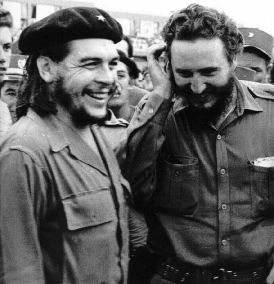 FIDEL CASTRO WITH CHE GUEVARA (MURDERERS WORSHIPED BY AMERICAN ATHEISTS)