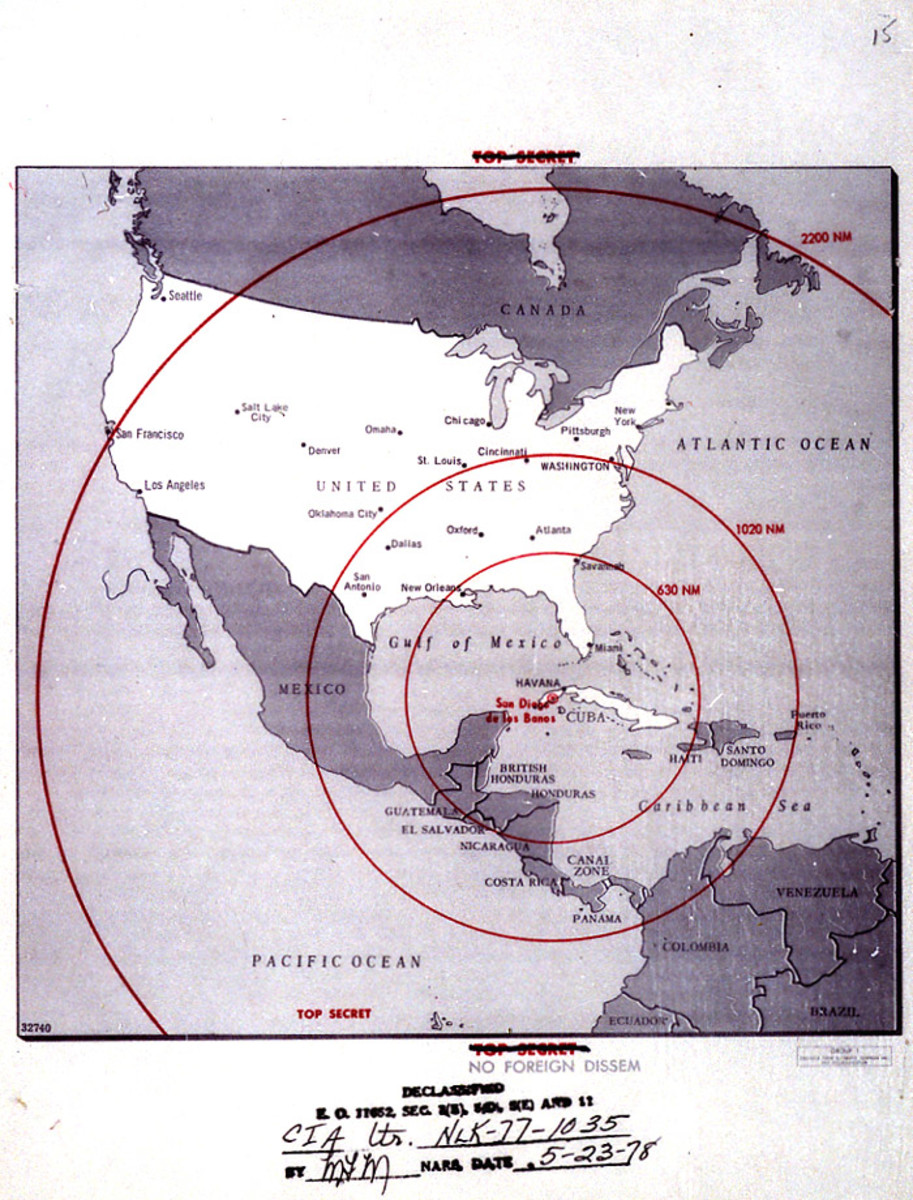 STRIKE RANGE OF SOVIET NUCLEAR MISSILES IN CUBA