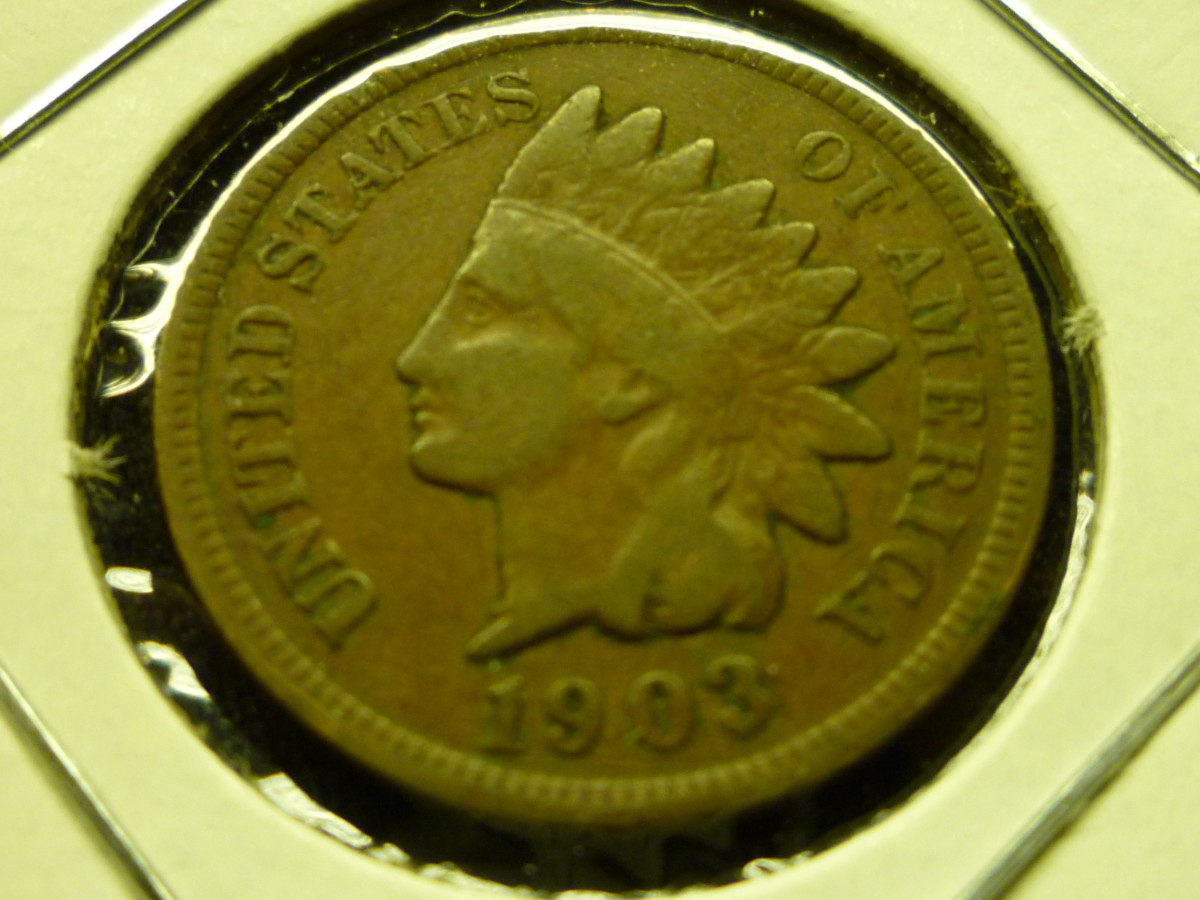 Value of Indian Head Pennies. Shown above is a common 1903 Indian Head Penny.
