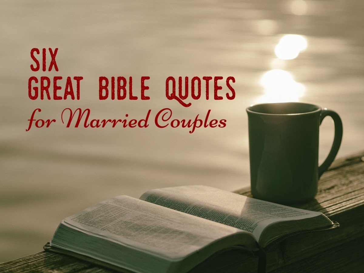 Six Great Bible Quotes for Married Couples
