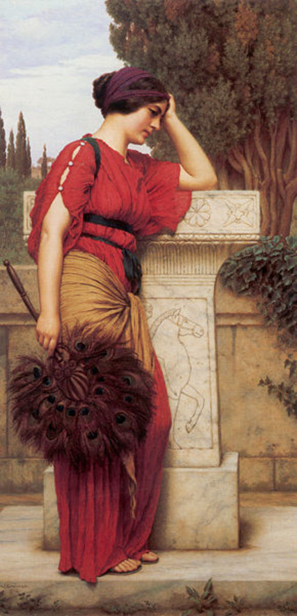La Pensierosa (The Thinker) by John William Godward (1861–1922)
