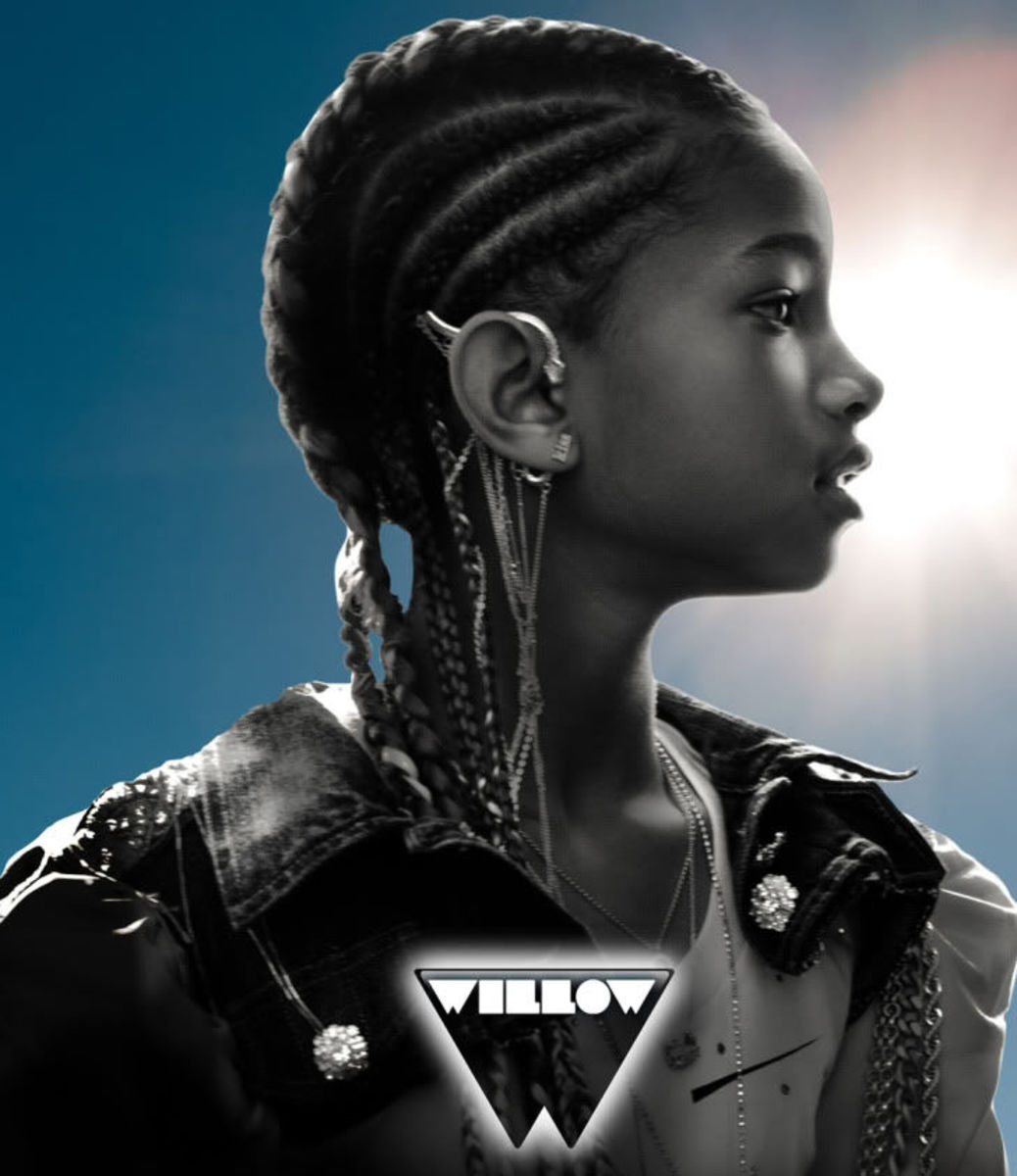 Willow Smith cornrows hairstyle.