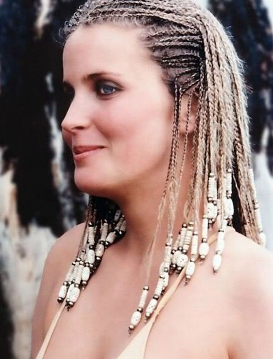 Bo Derek cornrows hairstyle.