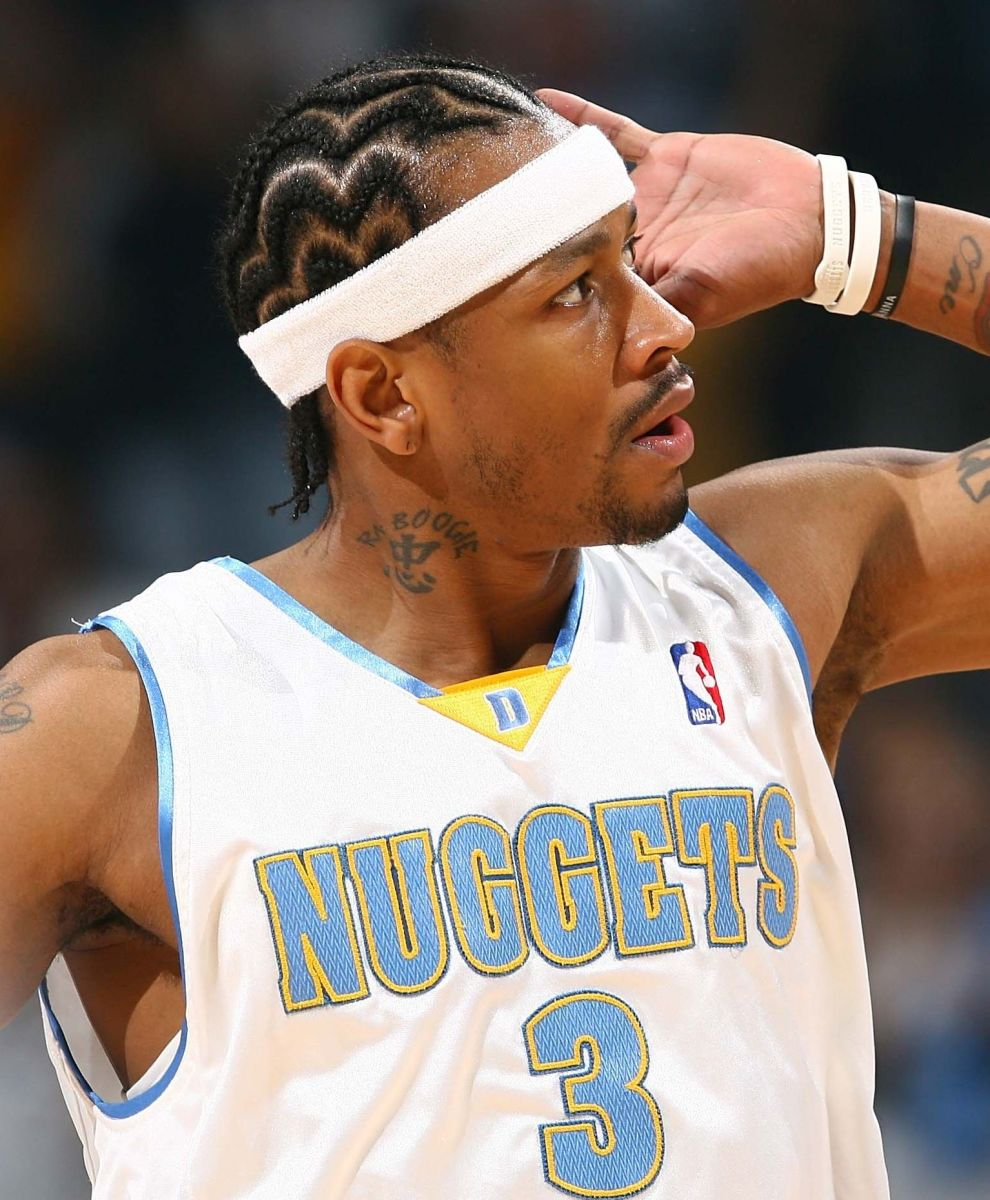 Allen Iverson cornrows hairstyle.