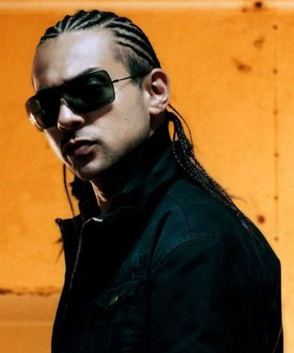 Sean Paul cornrows hairstyle.