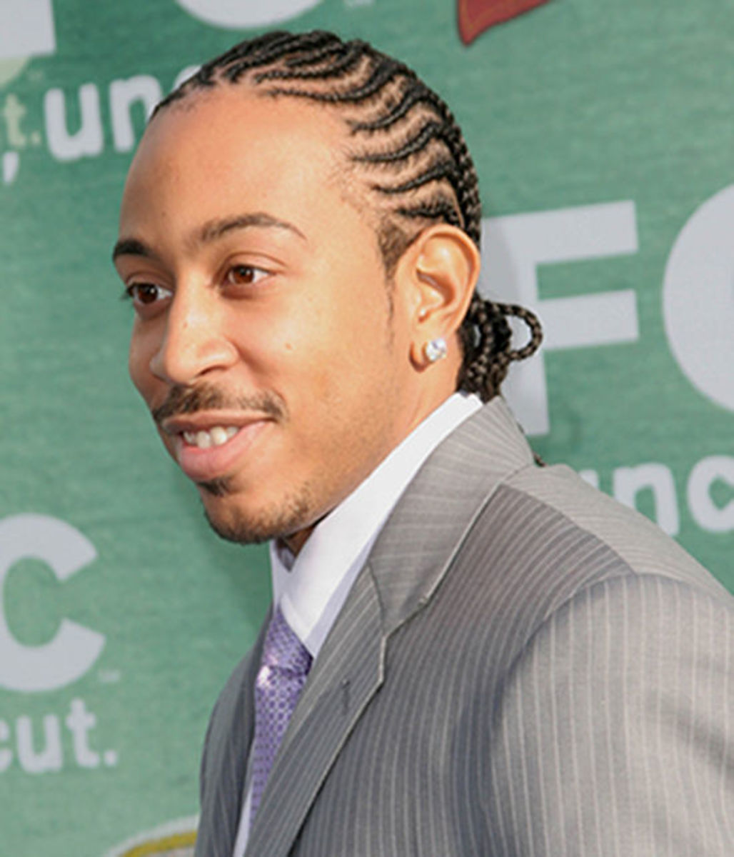 Ludacris cornrows hairstyle.