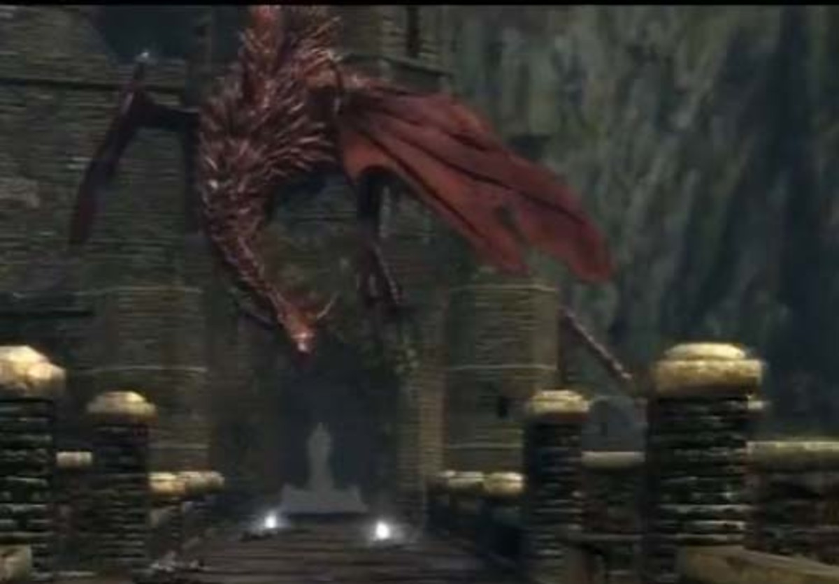 Dark Souls Getting Past the Red Dragon