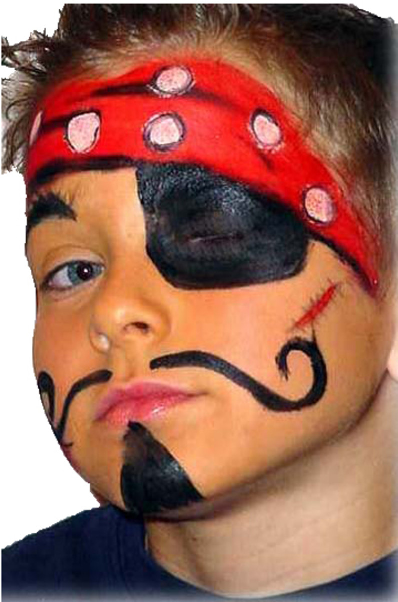 Blimey Mate Pirate Face Painting Guide