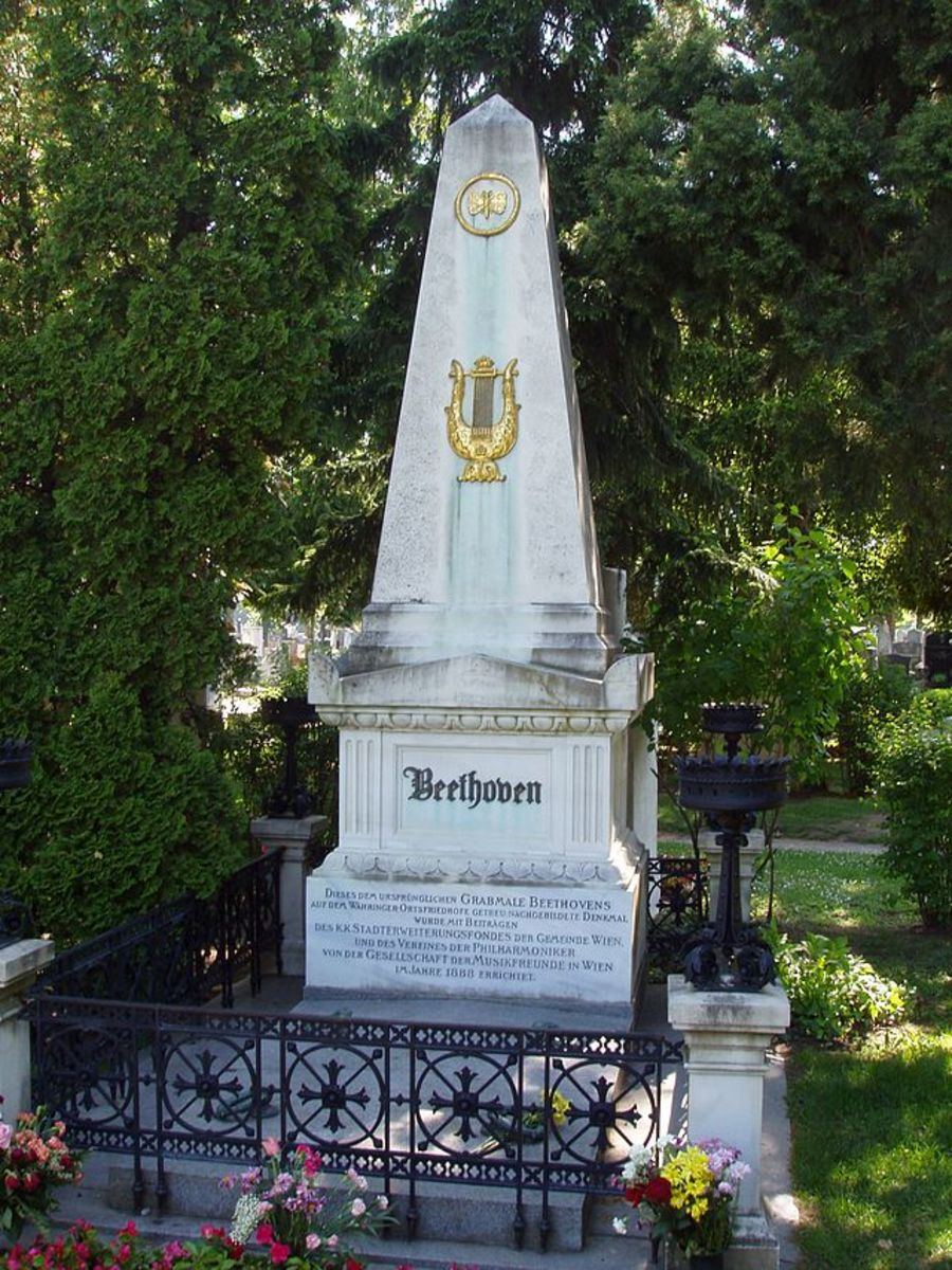 Beethoven's grave site in Vienna