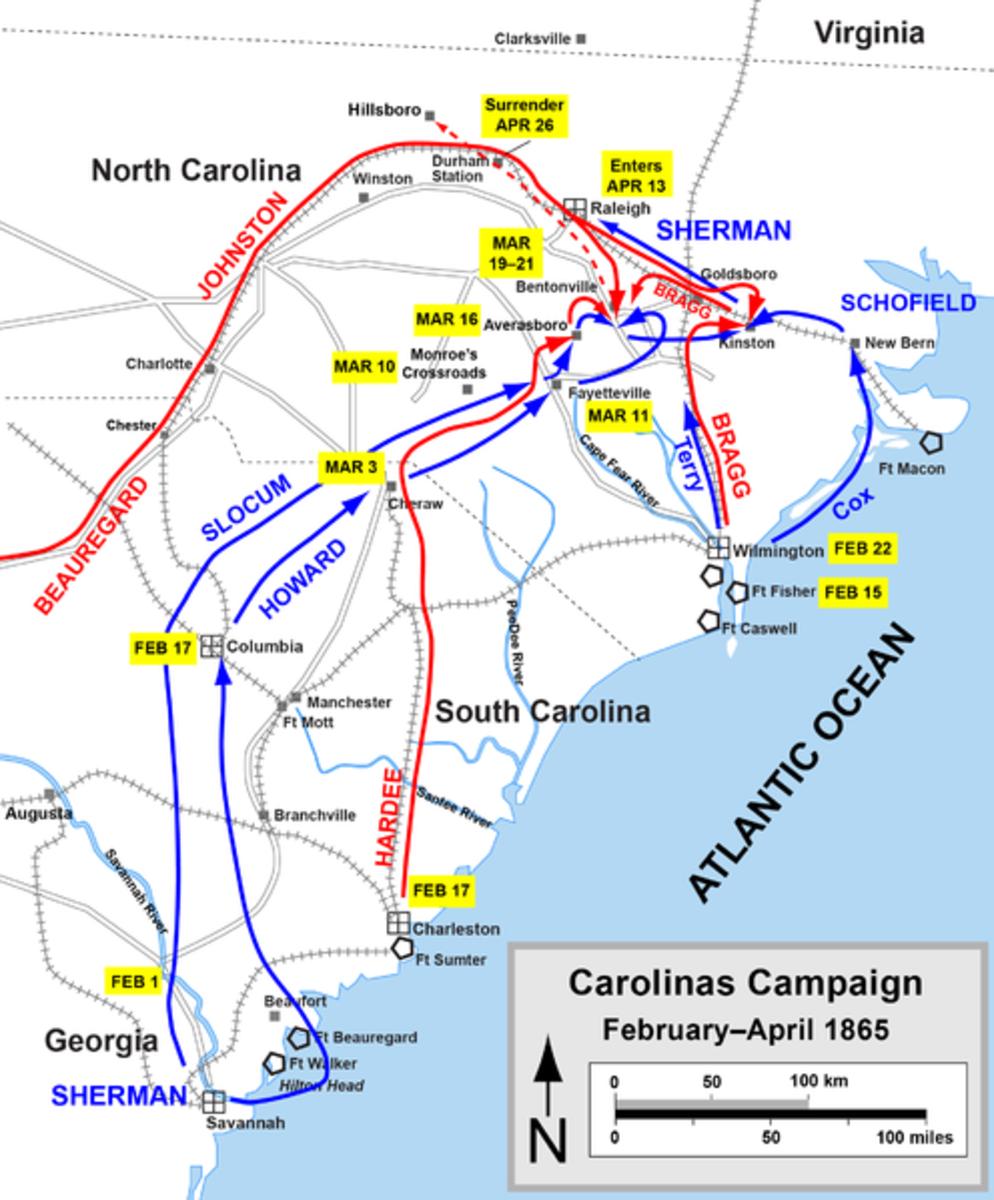 Manuevers of the Carolinas Campaign