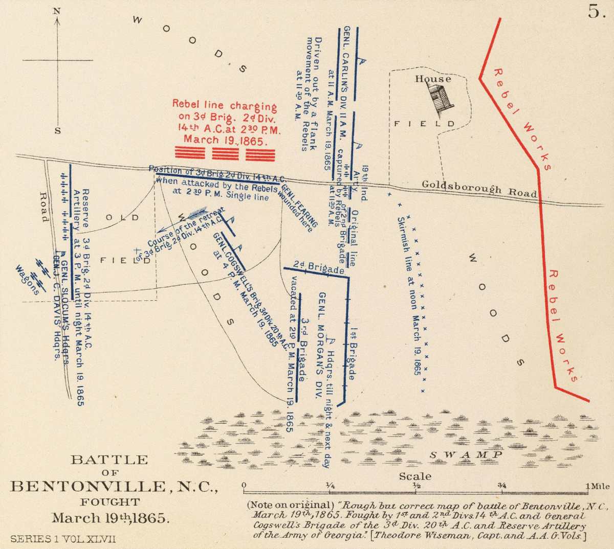 Battle of Bentonville, N.C., fought March 19th, 1865. ~  Author: United States. War Department  ~  Date: 1895