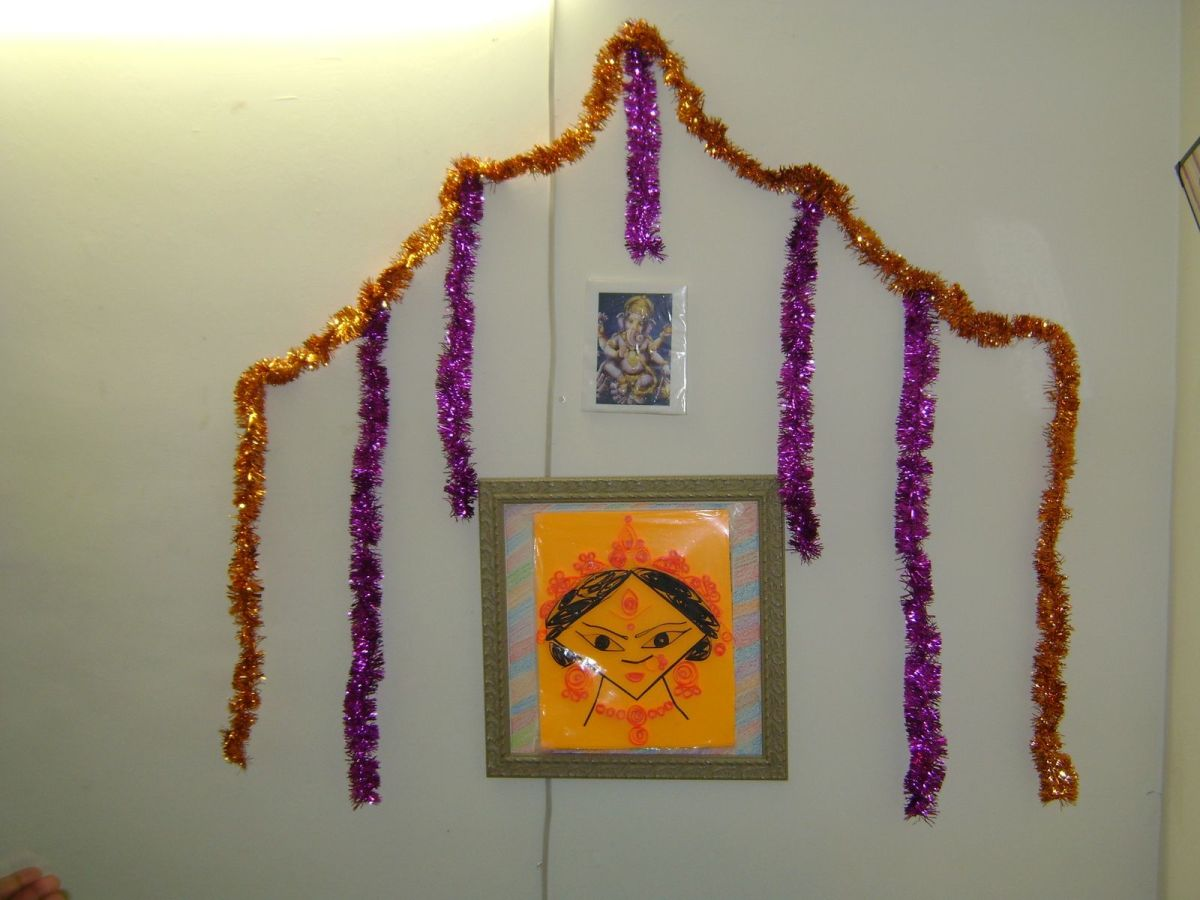 durga made of paper quelling