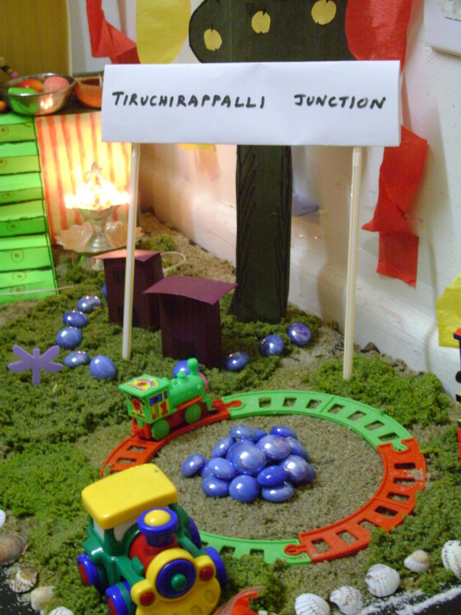 Rail symbolizing trichy junction, tamilnadu