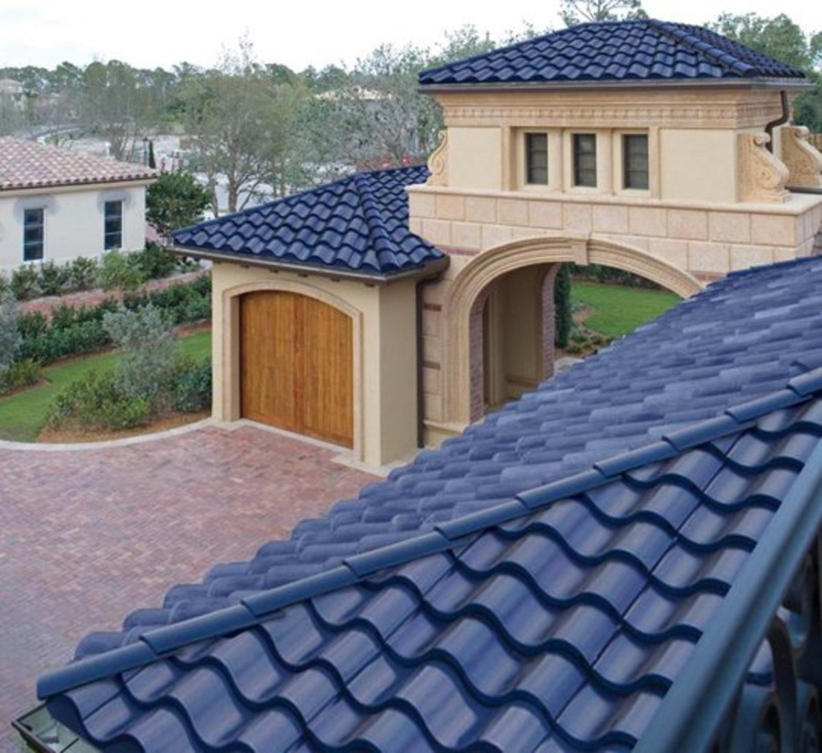 Home Remodeling Improvement - Tile Roofs - Spanish Style Roofs Integrated with Solar in the Installation