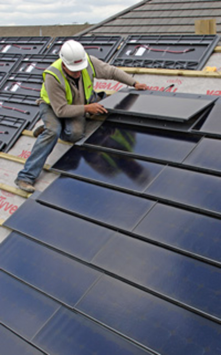 Solar Roofing Tile Installation