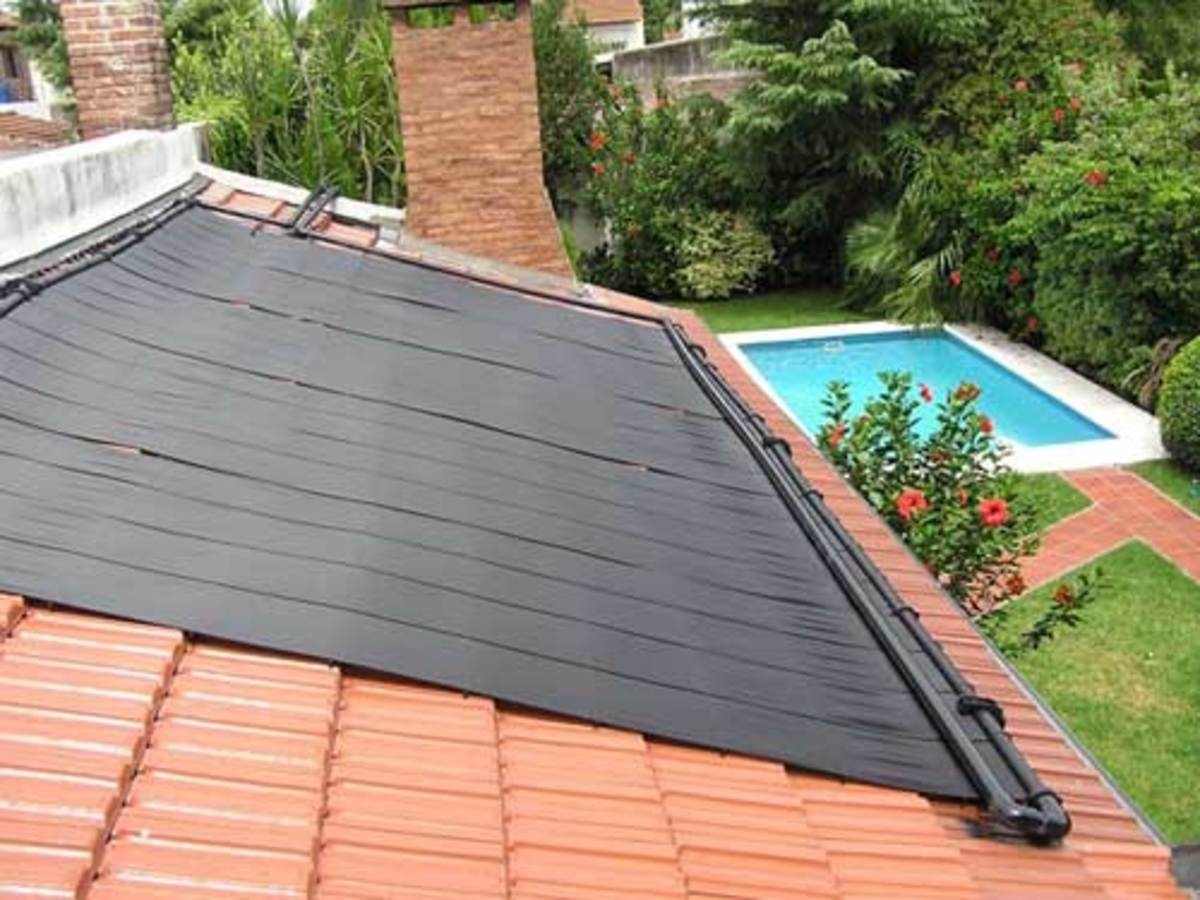 Solar Tile Roofing for the Swimming Pool