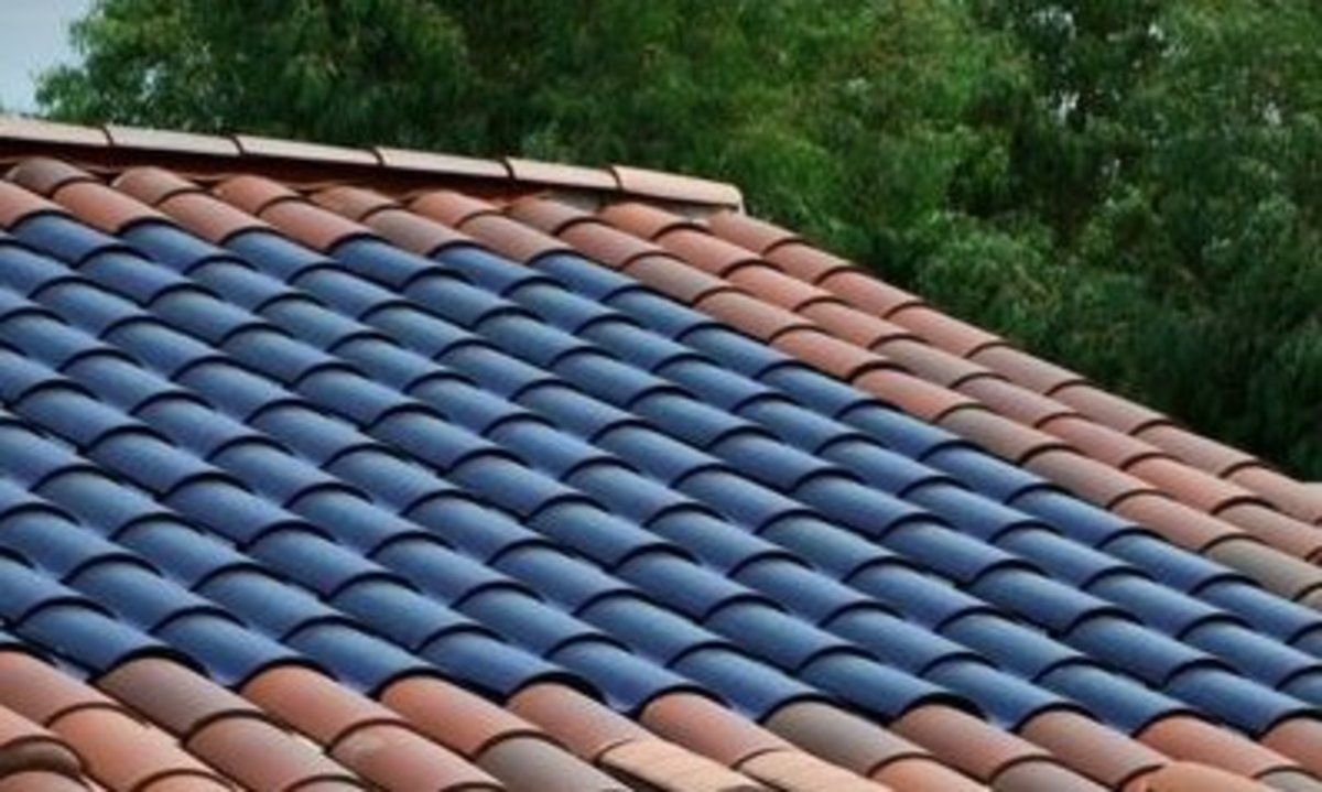 Barrel Style Tile Roof with Integrated Solar Panels