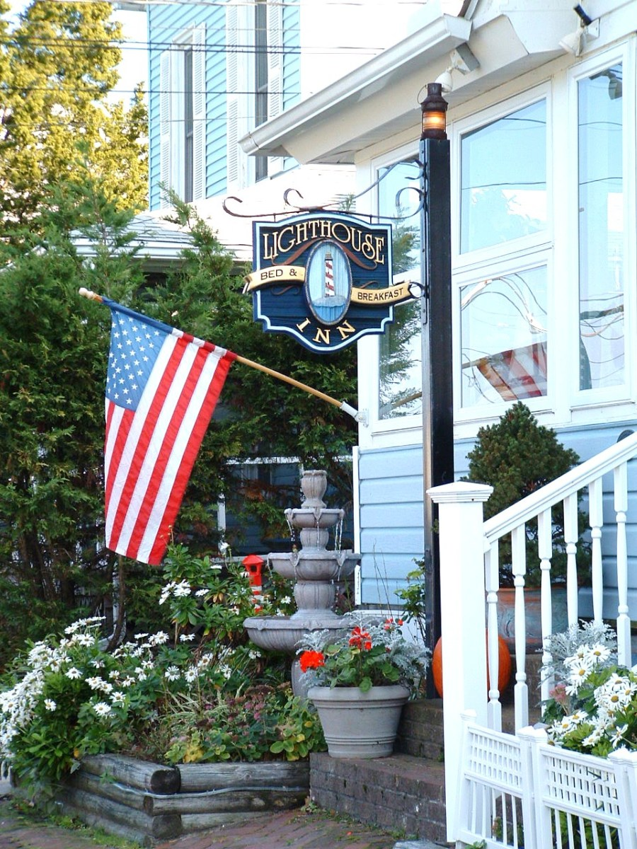 The Lighthouse Inn is a bed and breakfast in Rehoboth Beach, Delaware that has a nautical flare.