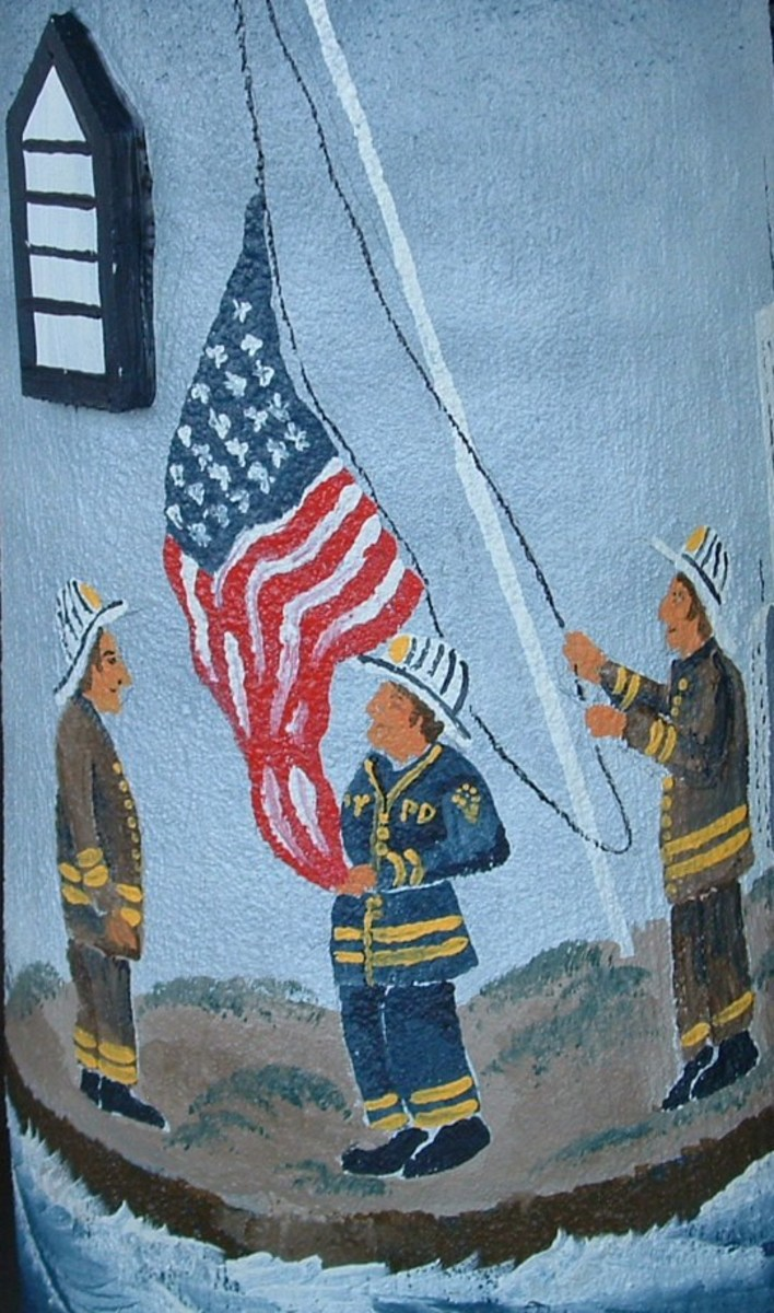 Close-up of the firefighters.