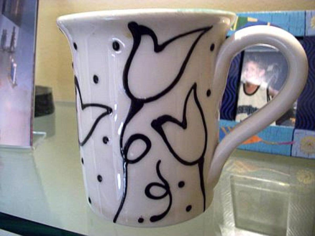 Hand Painted Coffee Mug from Studio J Pottery