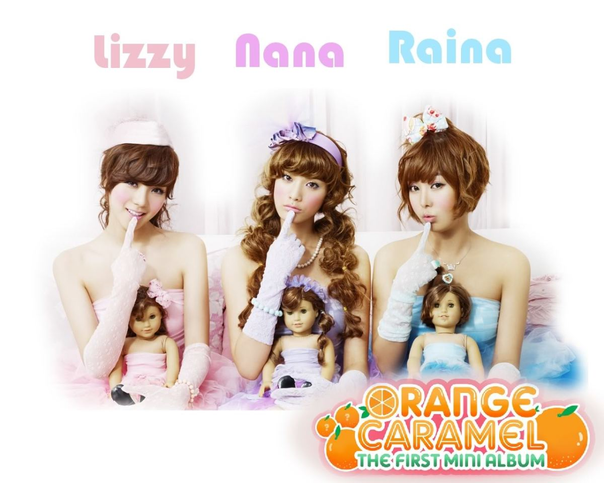 Orange Caramel Group Wallpaper