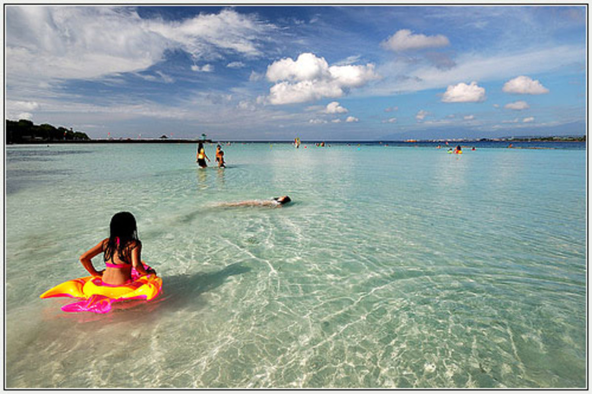 The clear and clean waters of Paradise Island