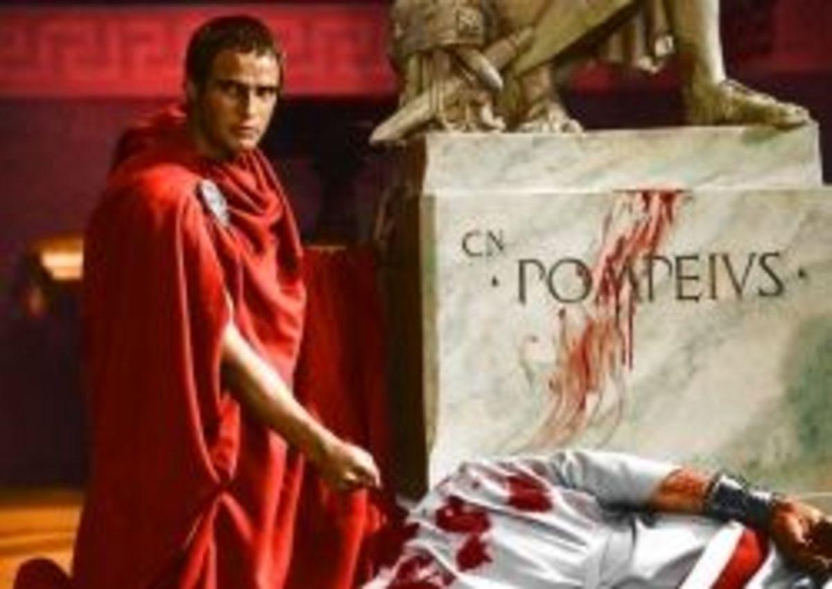 A gang of brutal murderers fell on Julius Caesar