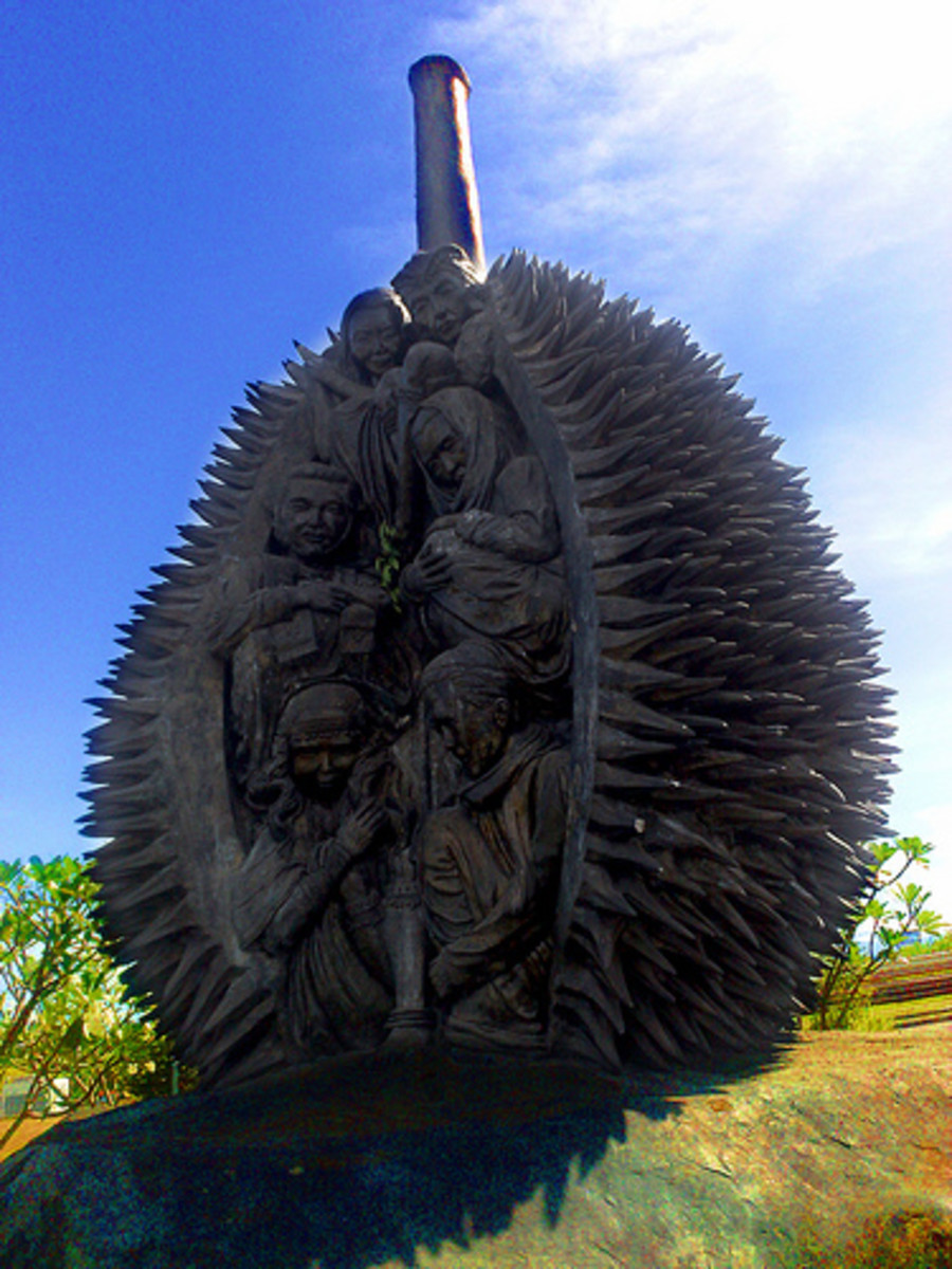 Durian Sculpture near Manila, The Philippines