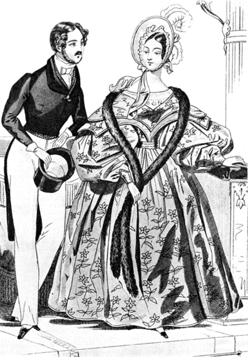 A European newspaper fashionplate from 1835.