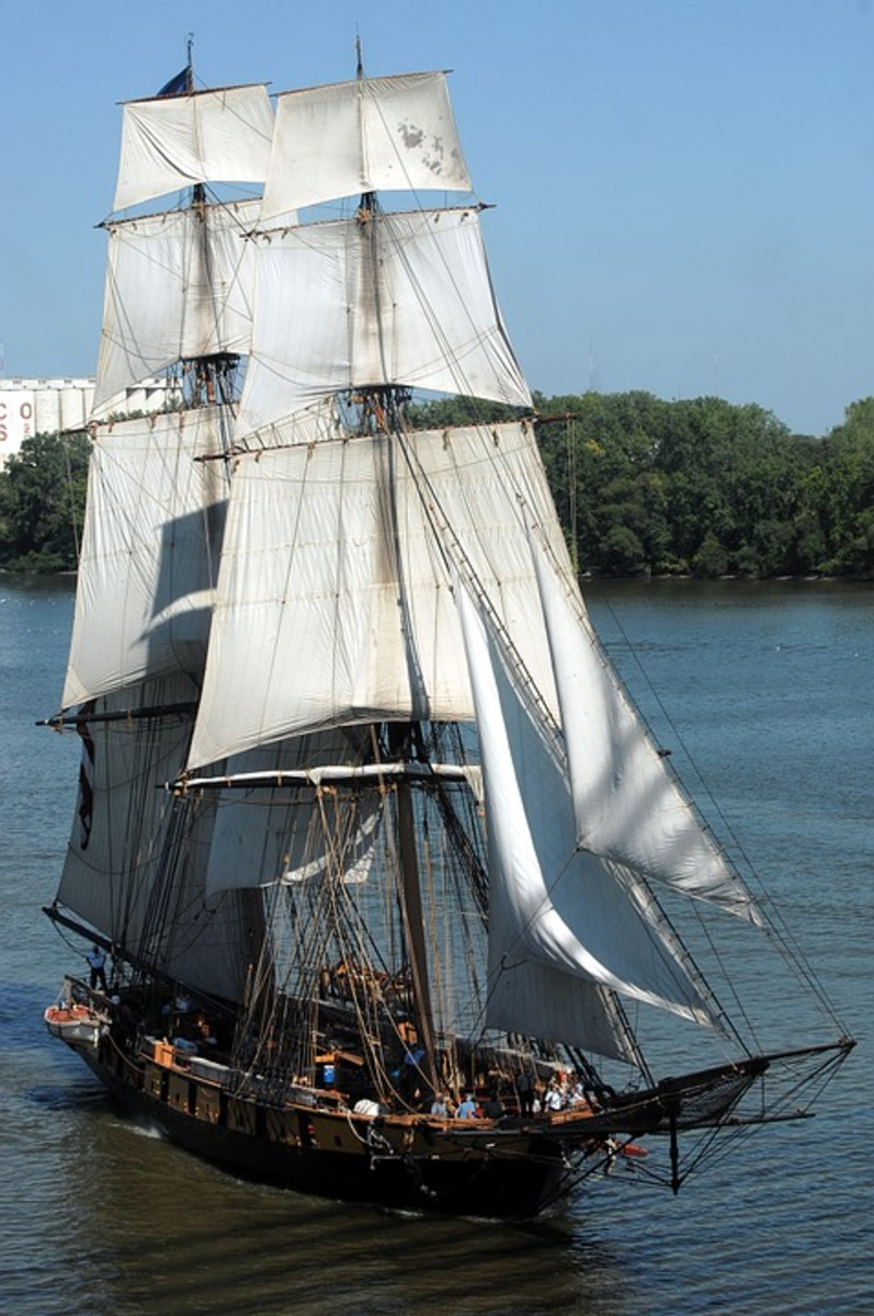 A Tall Ship At Toledo.