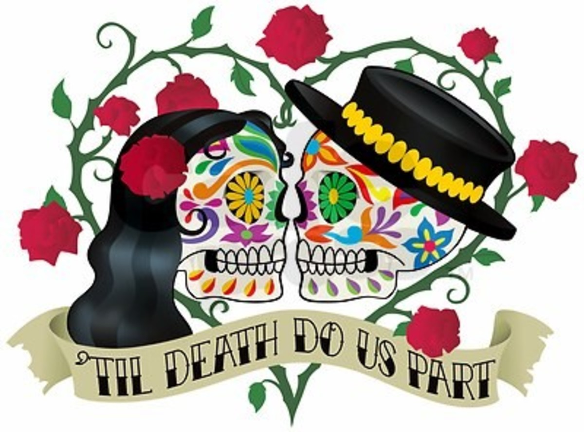 day of the dead or cinco de mayo themed wedding for the