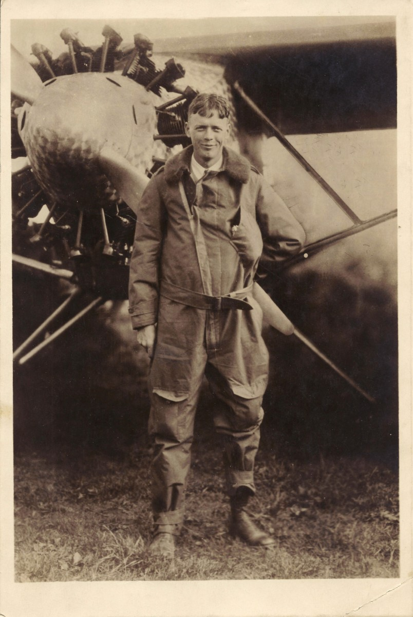 Photo of Charles Lindbergh acquired by my grandfather