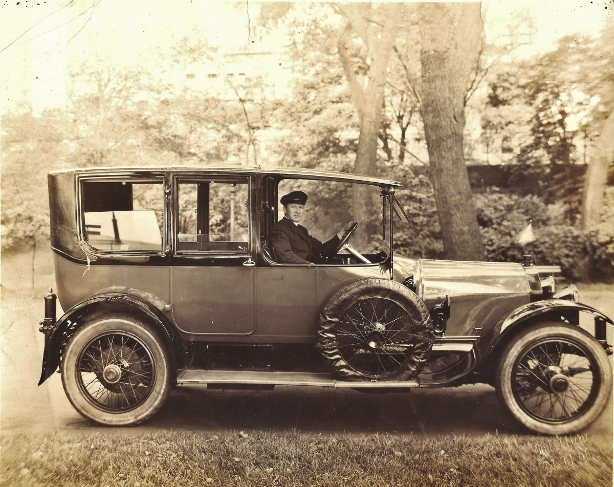 Photo of my grandfather as a chauffeur before World War 1