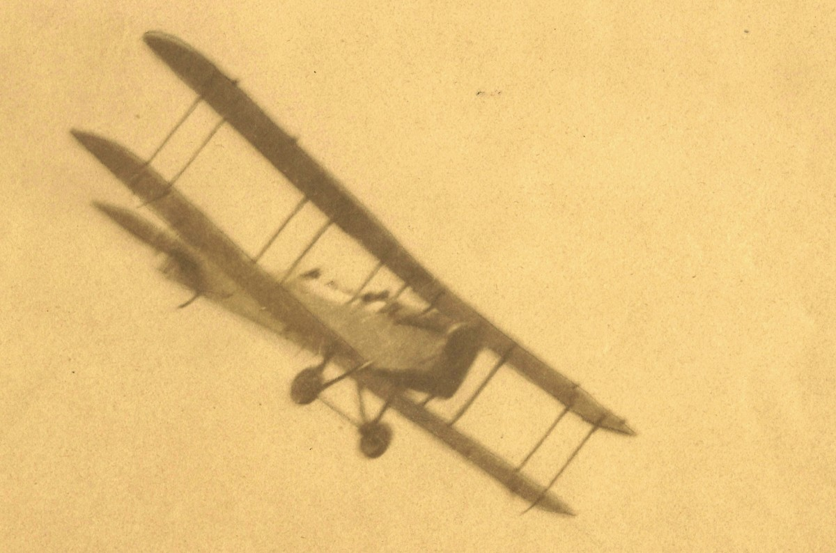 Photo taken by my grandfather of bi-plane during WW1