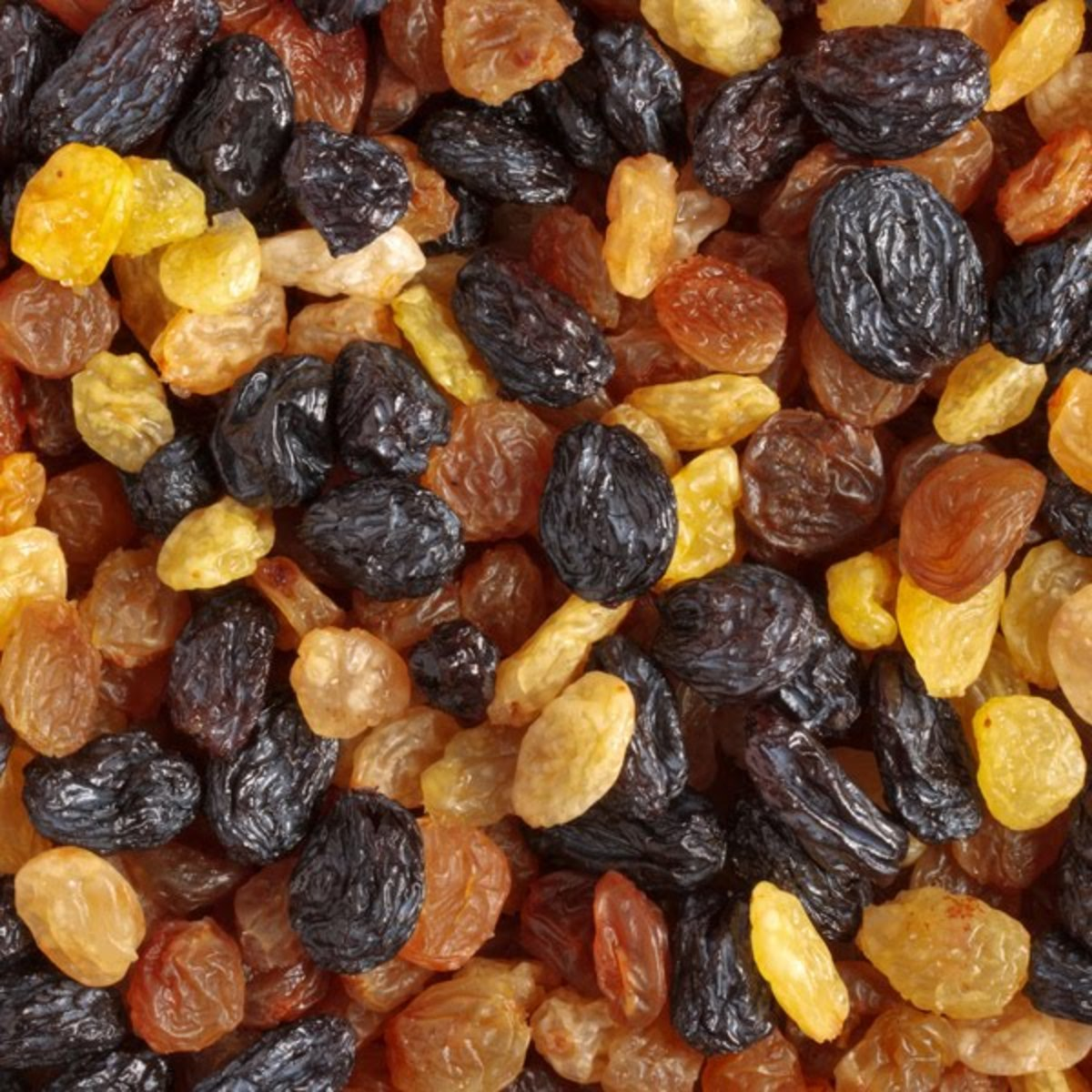One cup of raisins contains 3g of soluble fiber. The soluble fiber together with the polyphenols found in raisins both interfere with cholesterol absorption.