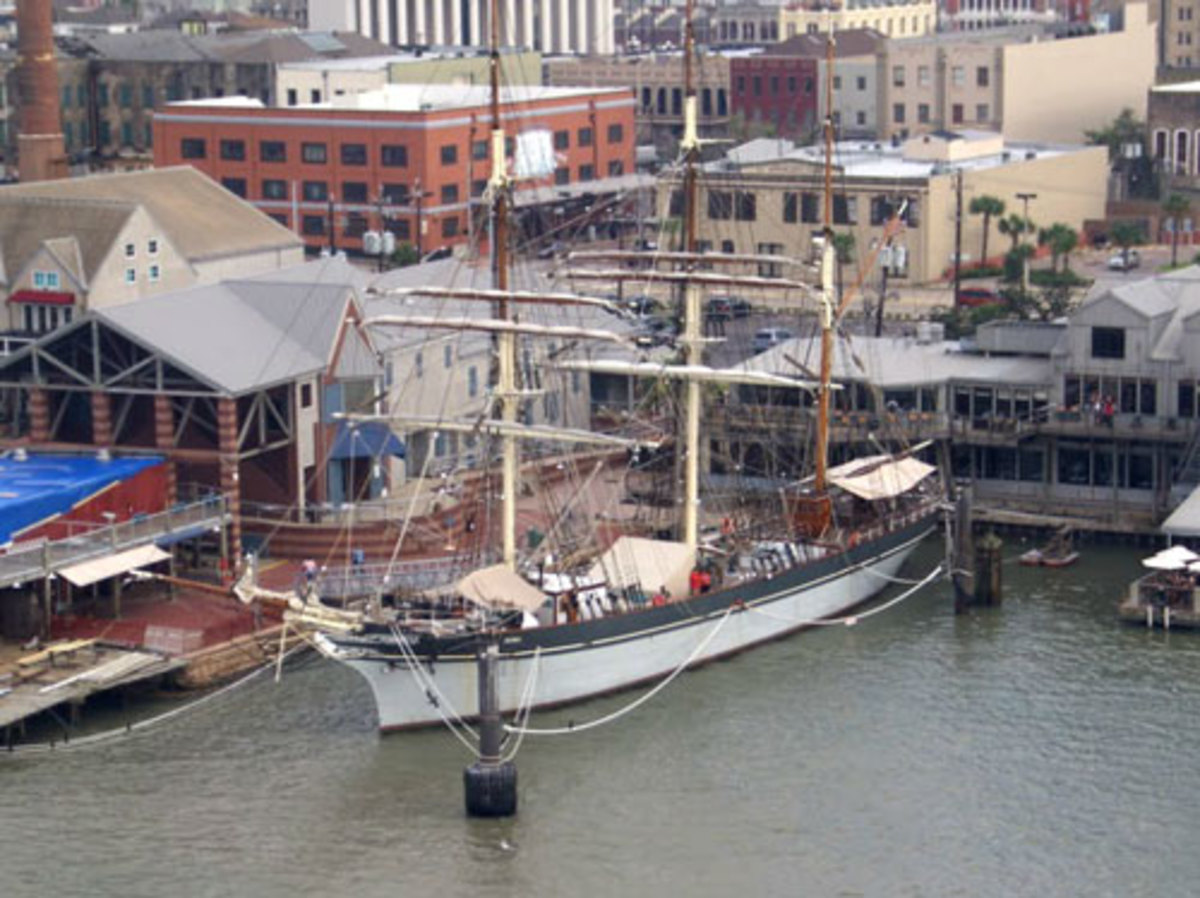 Elissa three masted ship at the Texas Seaport museum