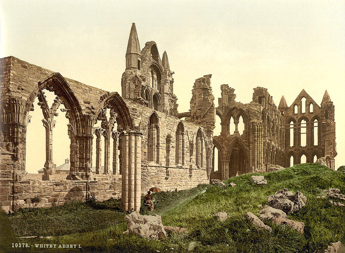 Once the pinnacle of Anglian Christian achievement, St Hilda's Whitby Abbey was destroyed first by the Danes, then rebuilt. Henry VIII was more destructive seven hundred years later