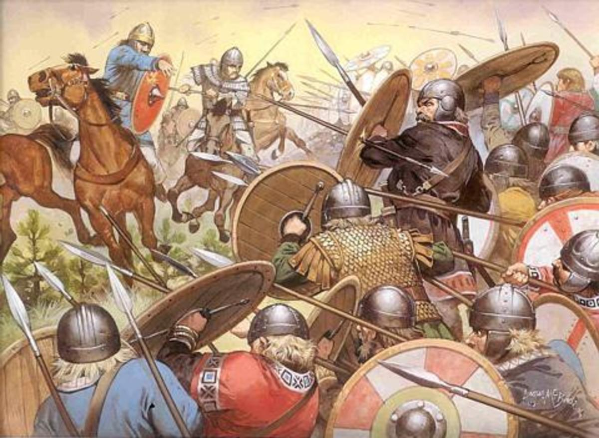 Inter-Saxon warfare - it had to come to this, Wessex took on the other Saxon enclaves (East, Middle and South Saxons), ending with Wessex's domination of the southern British Germanic kingdoms.  Mercia blocked the way north for generations to come