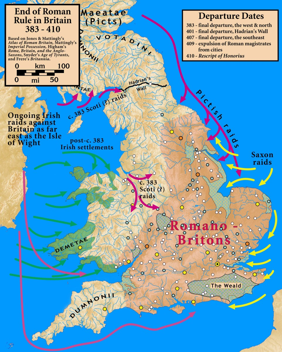 The last couple of decades of Roman rule in Britain saw a gradual withdrawal in their military presence. What came in place of men from the Mediterranean region were men from the bounds north of the empire