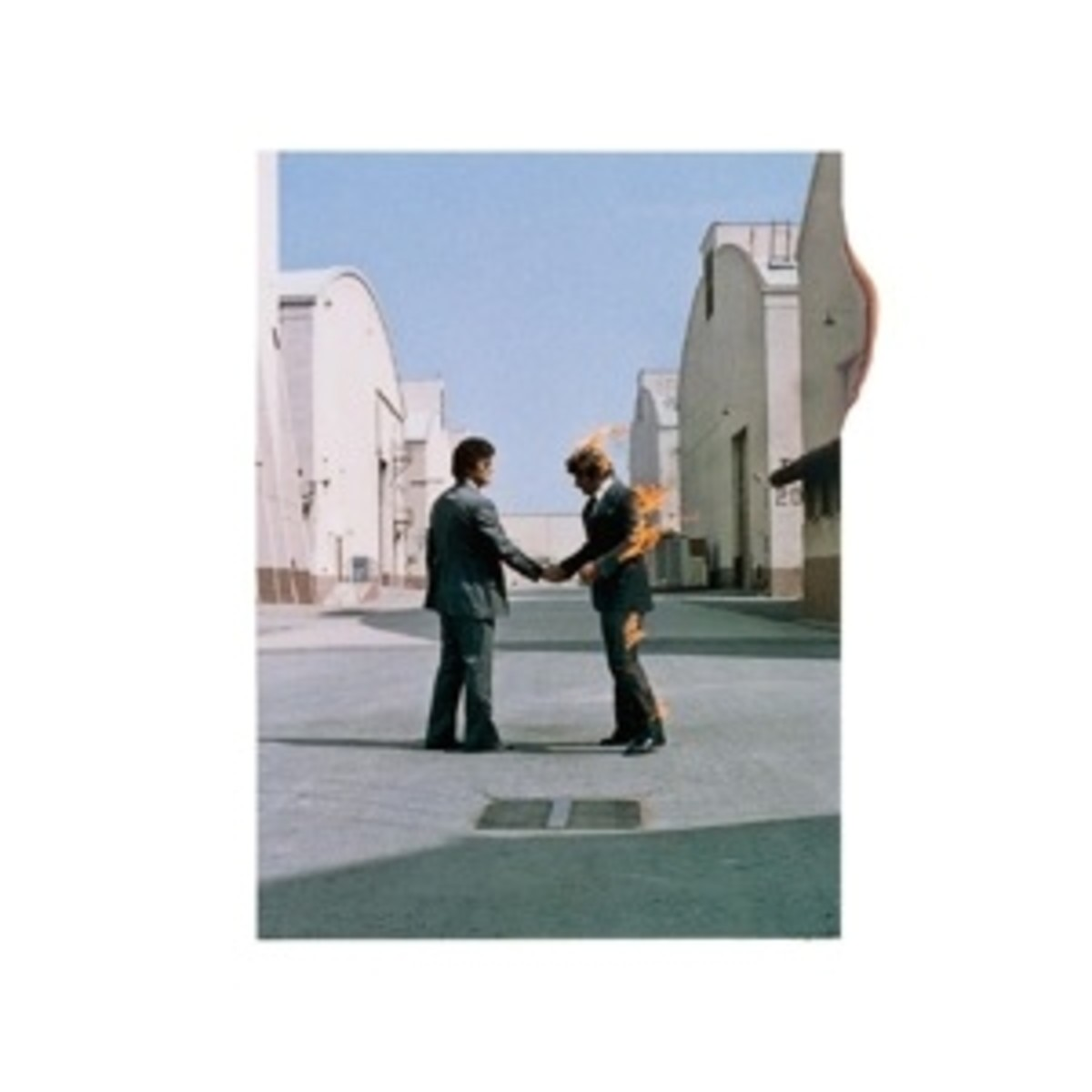 Album cover for Pink Floyd's Wish You Were Here (released 1975)