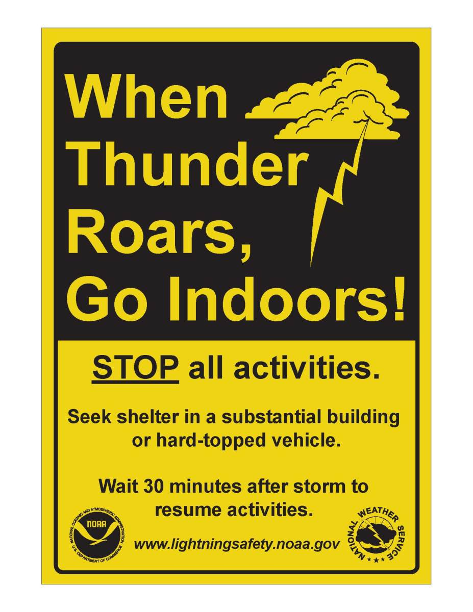 Each year almost 60 people are killed by lightning strikes.