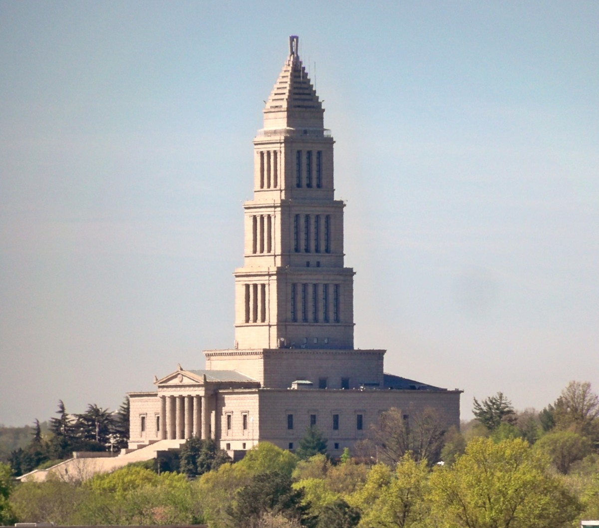 The George Washington Masonic Temple (from Monroe Avenue Bridge, Route 1)