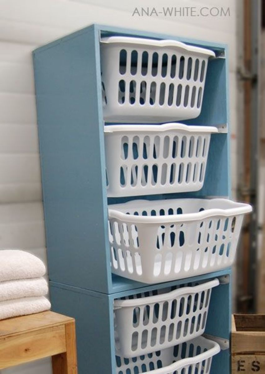 Clothes Basket Dresser Diy Laundry Basket Dresser