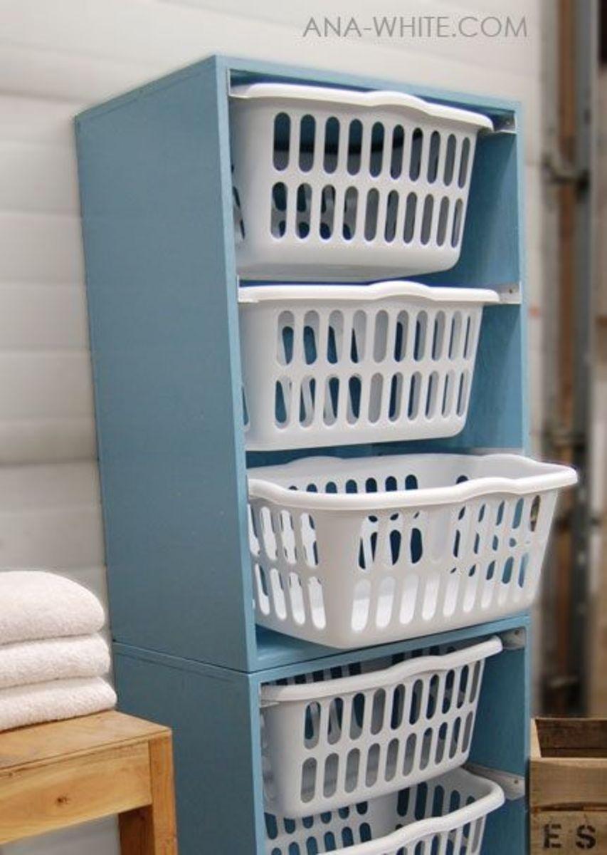 DIY Laundry Basket Dresser Drawers