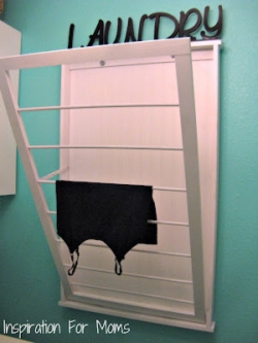 DIY Laundry Drying Rack - Inspirations for Mom
