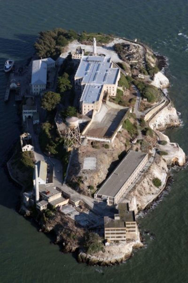 An Aerial View of Alcatraz Island
