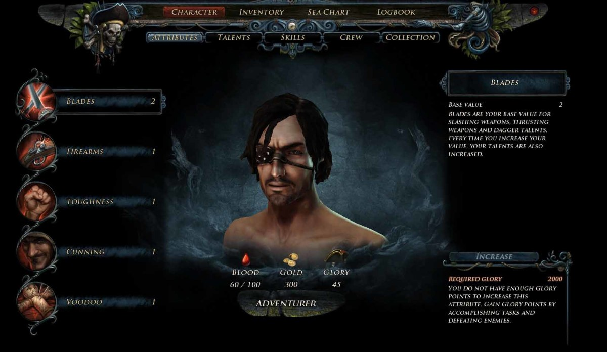 Risen 2 Attributes to increase when leveling up