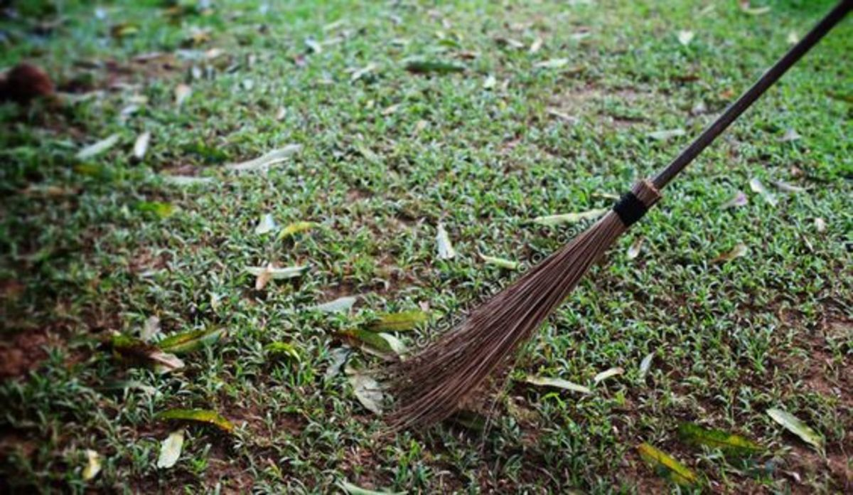 Sweeping at dusk is believed to bring bad luck.